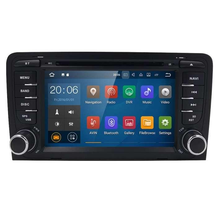 "Radio DVD Navegador Android 9.0 para Audi A3 (7"")"