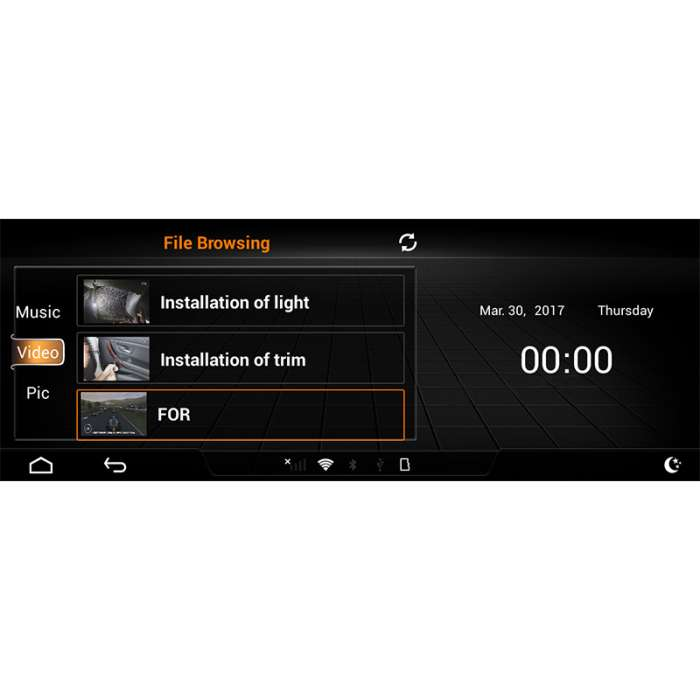 """Monitor Navegador HD Android para Audi A6 (10,25"""")"""