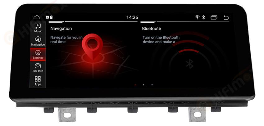 """Radio Navegador GPS Android para BMW X5 / X6 (10,25"""")"""