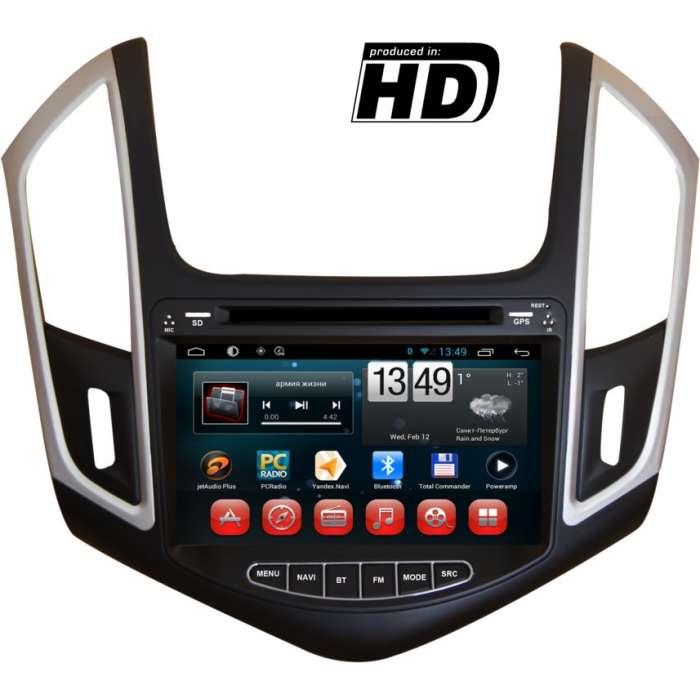 "Radio DVD Navegador GPS HD Android Puro para Chevrolet Cruze (8"")"
