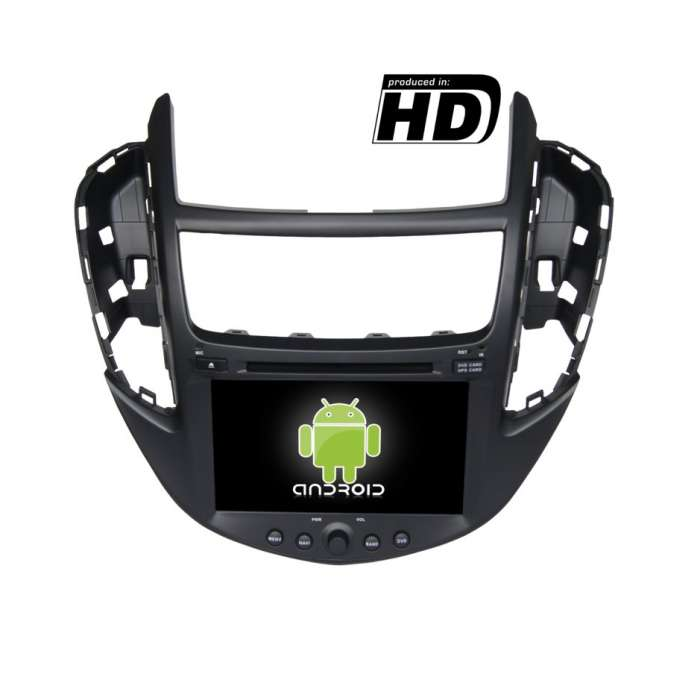 "Radio DVD Navegador GPS HD Android Puro para Chevrolet Trax (8"")"