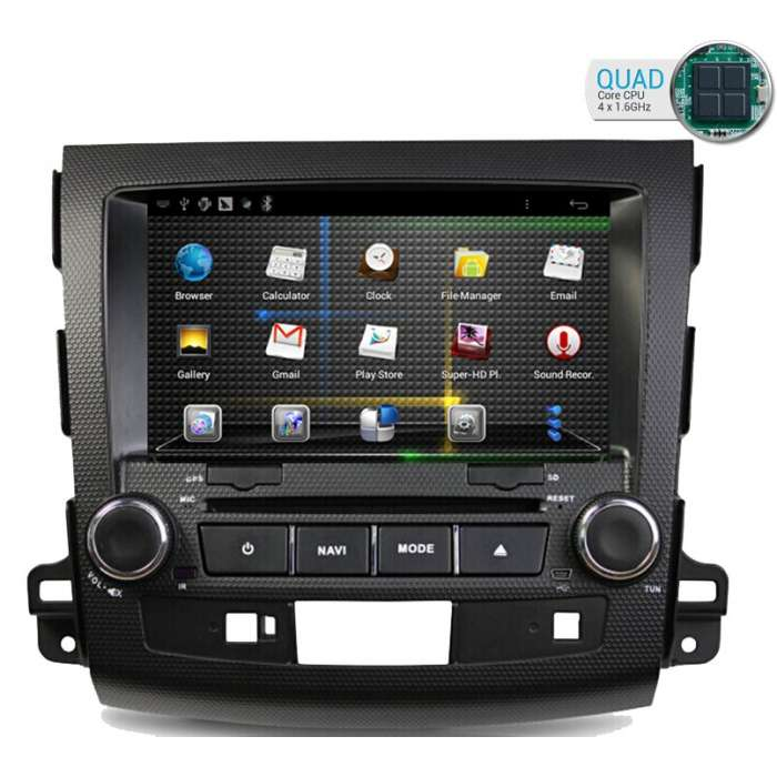 "Radio DVD Navegador GPS HD Quad Core para Mitsubishi Outlander / Citroen C Crosser (8"")"