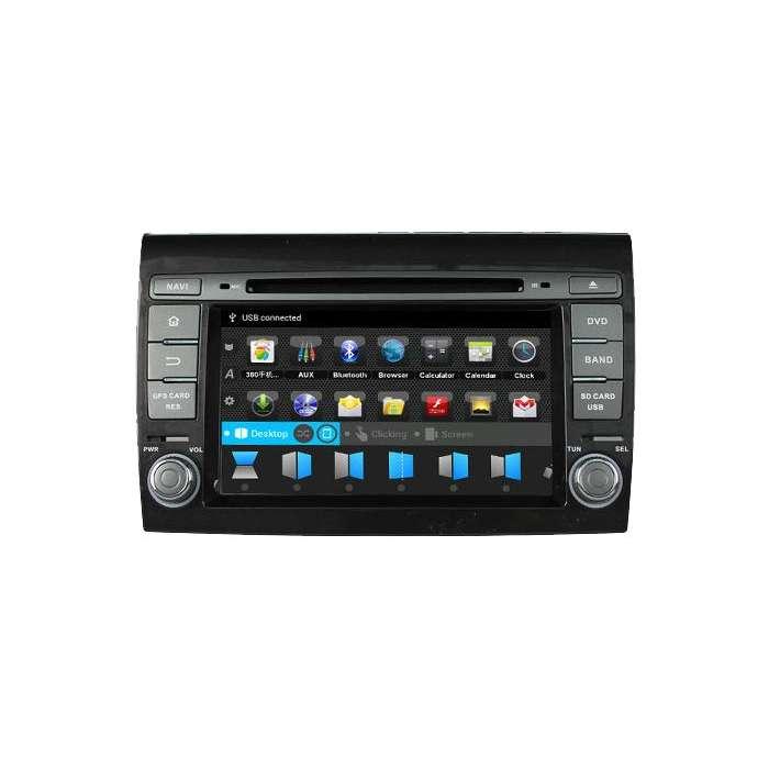 """Radio Navegador GPS Android para Fiat Bravo (7"""")"""