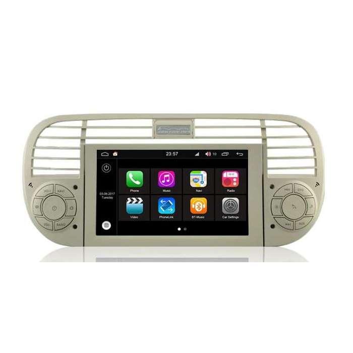 """Radio DVD Navegador Modelo S200 Android para Fiat 500 (7"""")"""