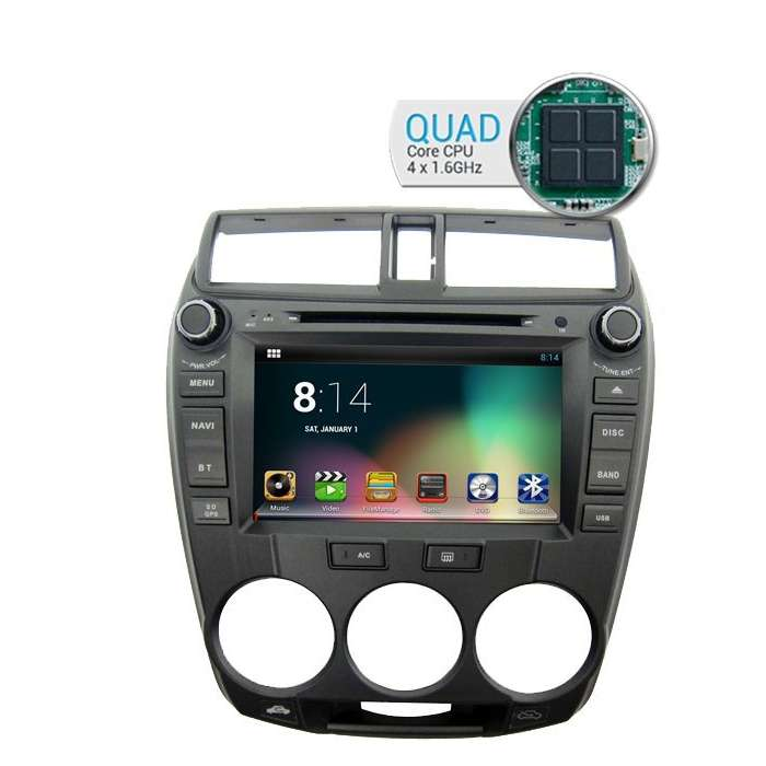 "Radio DVD Navegador GPS Android para Honda City (8"")"