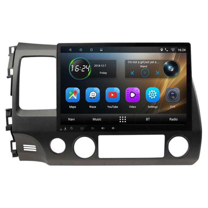 """Radio Navegador GPS Android para Honda Civic (10,2"""")"""