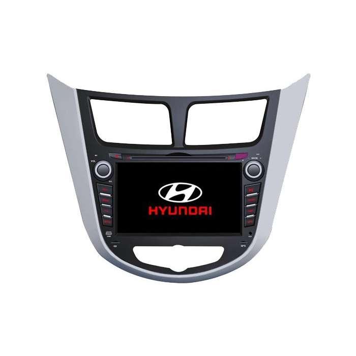 "Radio DVD Navegador GPS Android para Hyundai Verna / Accent / Solaris (7"")"