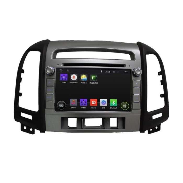 """Radio DVD Navegador GPS Android para Hyundai Santa Fe (8"""")"""
