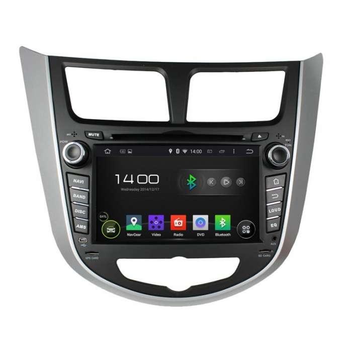 "Radio DVD Navegador GPS Android para Hyundai Accent / Verna / Solaris (8"")"