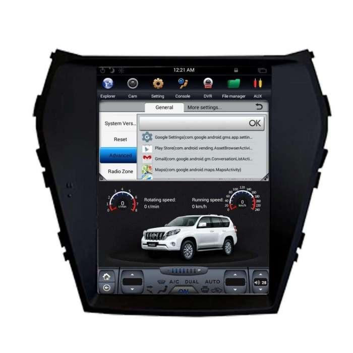 "Radio Navegador Android Tipo Tesla para Hyundai Santa Fe / IX45 (10,4"")"