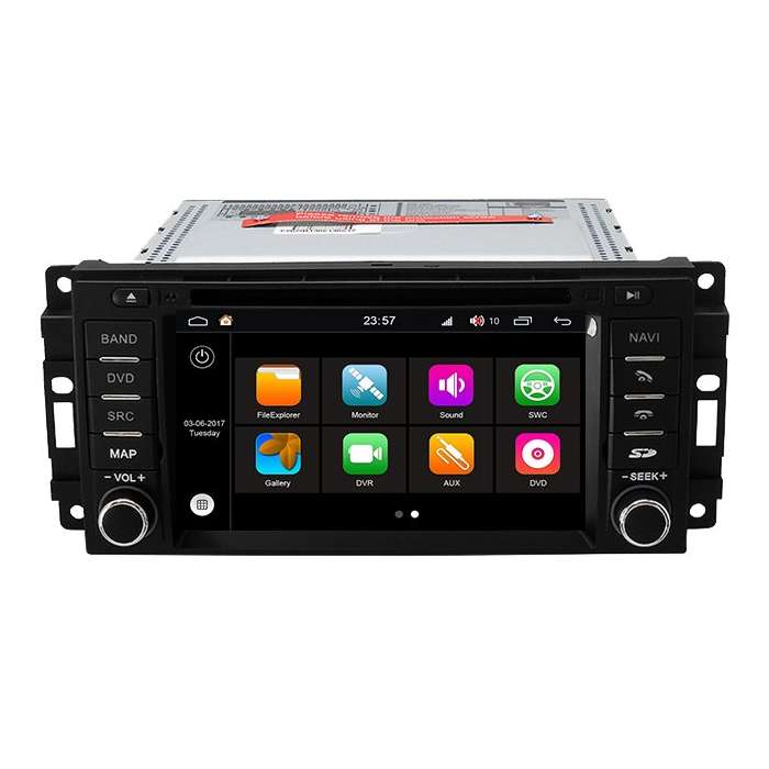 "Radio DVD Navegador GPS HD Octa Core S200 para Jeep / Chrysler / Dodge (6,2"")"