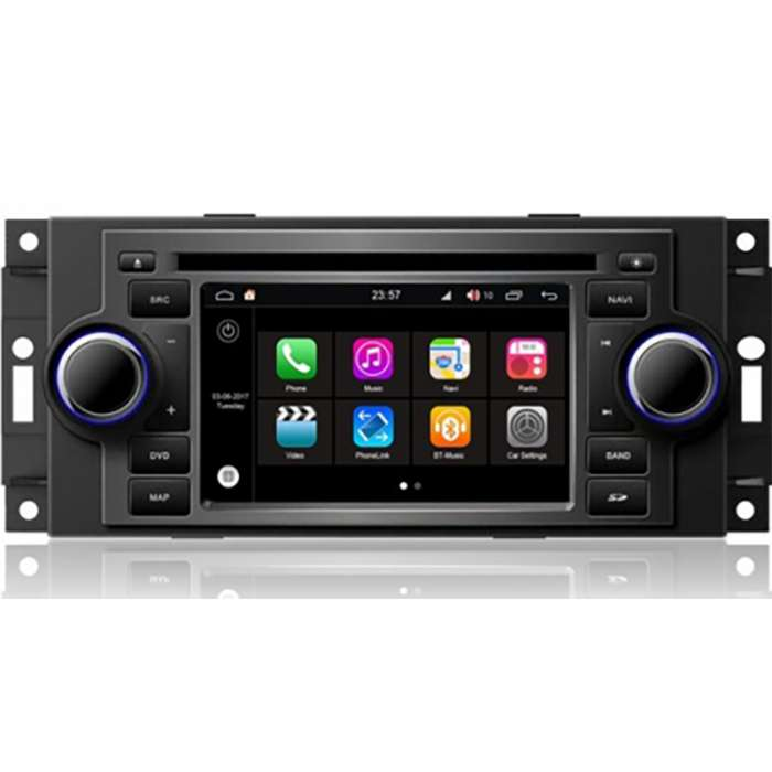 "Radio DVD Navegador GPS HD Octa Core S200 para Jeep / Chrysler / Dodge (5"")"