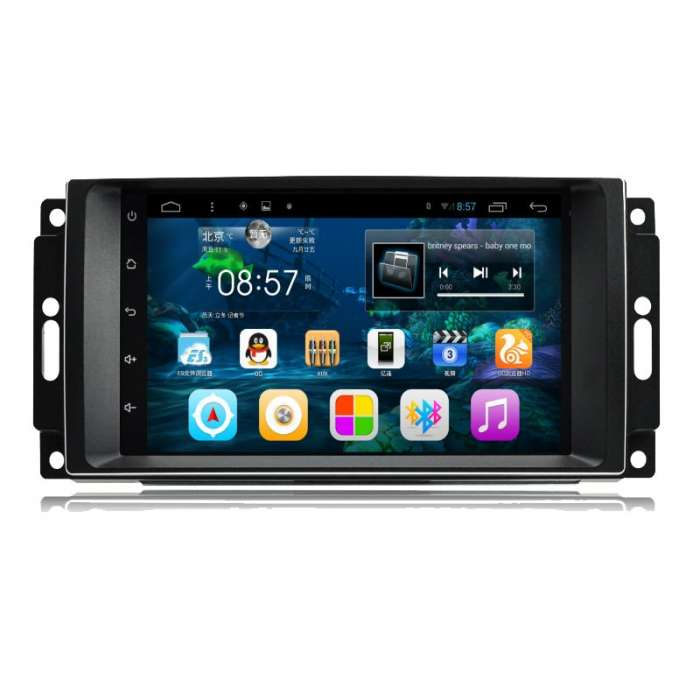 "Radio Monitor Navegador GPS HD Android Puro para Dodge / Chrysler / Jeep (7"")"