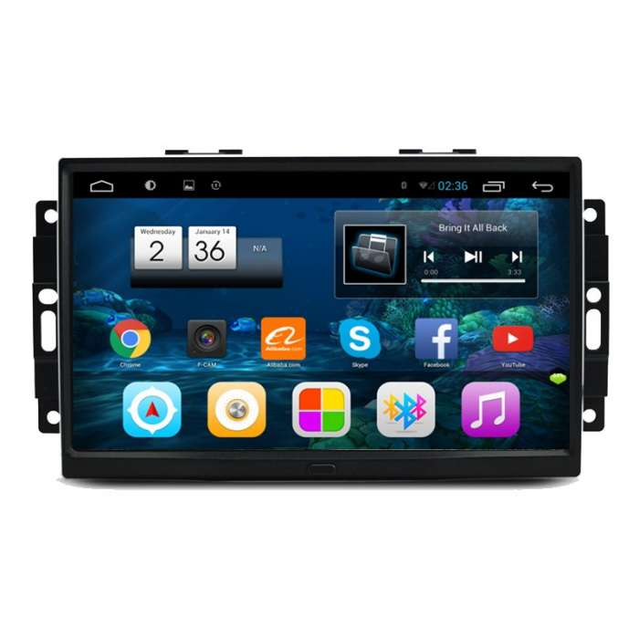 "Radio Monitor Navegador GPS HD Android Puro para Chrysler / Jeep (9"")"