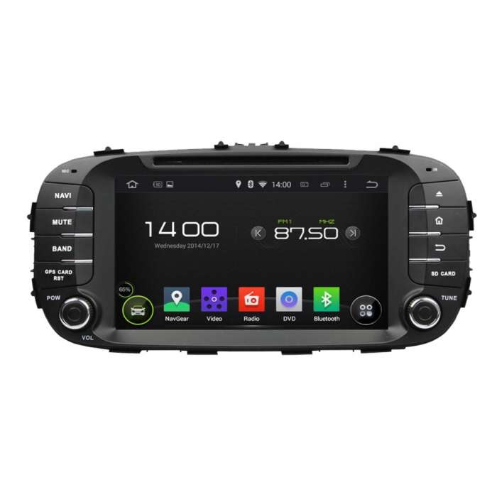 "Radio DVD Navegador GPS Android para Kia Soul (8"")"
