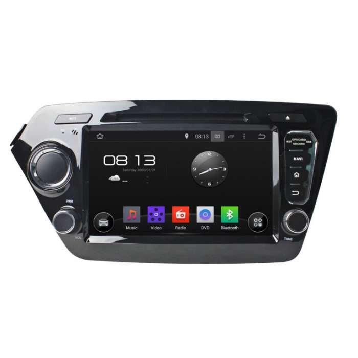 "Radio DVD Navegador GPS Android para Kia Rio / K2 (8"")"