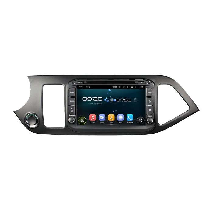 """Radio DVD Navegador GPS Android para Kia Picanto (8"""")"""