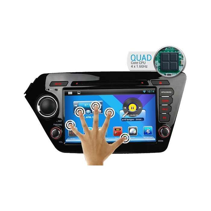 "Radio Navegador GPS Android para Kia K2 / Rio (7"")"