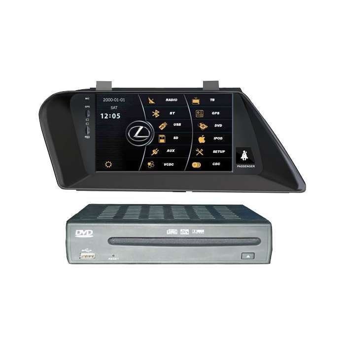 "Radio DVD Navegador GPS WinCE para Lexus RX (8"")"