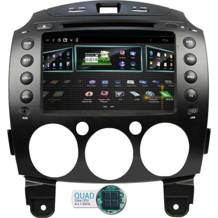 "Radio DVD Navegador GPS Android para Mazda 2 (7"")"