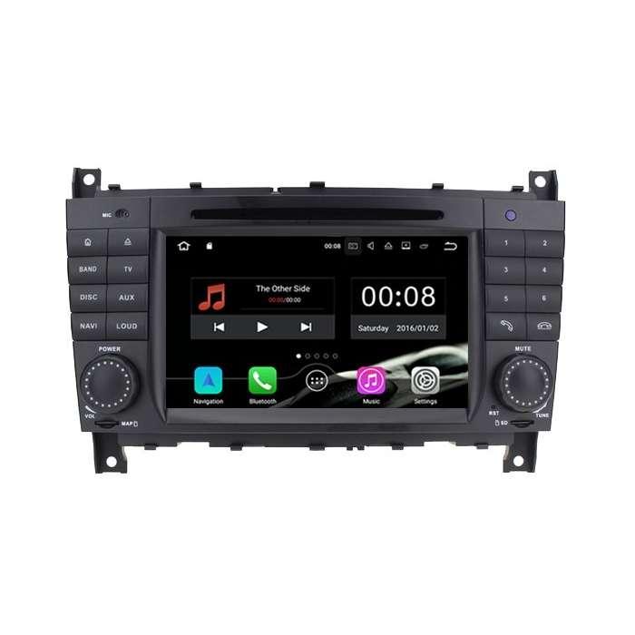 """Radio DVD Navegador Android para Mercedes Clase C (7"""")"""