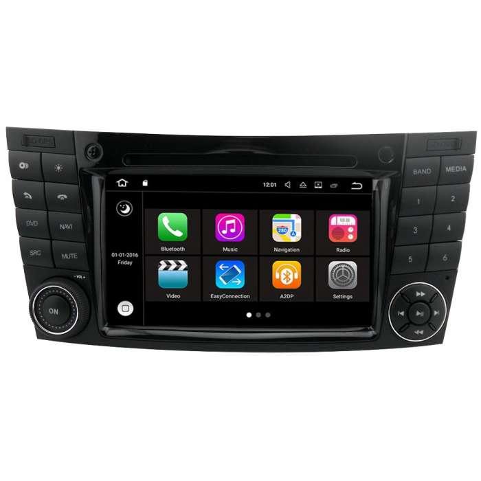 """Radio DVD Navegador GPS Android S200 para Mercedes Clase E (7"""")"""