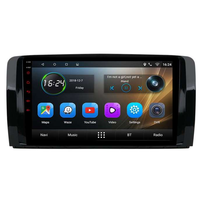 """Radio Navegador GPS Android para Mercedes Benz Clase R (9"""")"""