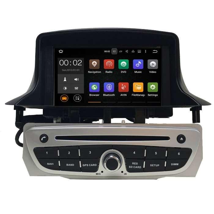 """Radio DVD Navegador GPS Android para Renault Megane 3 (7"""")"""