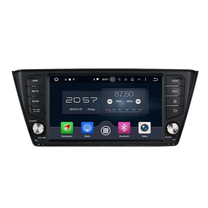 "Radio DVD Navegador GPS Android para Skoda Fabia (7"")"