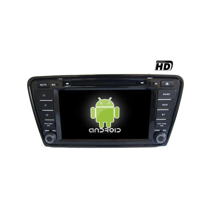 "Radio DVD Navegador GPS HD Android Puro para Skoda Octavia (7"")"