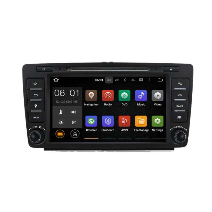 "Radio DVD Navegador GPS Android para Skoda Octavia (8"")"