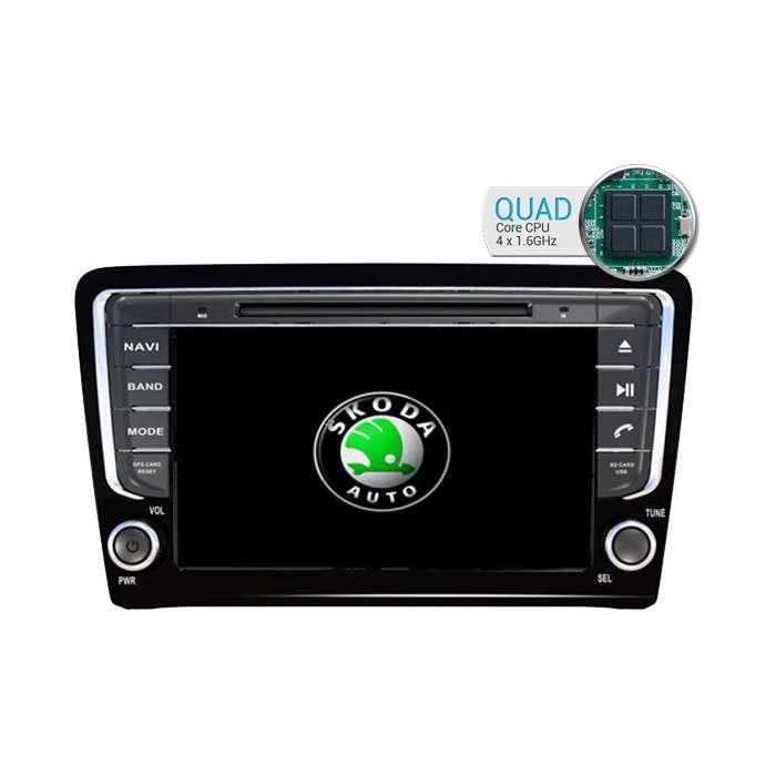 "Radio DVD Navegador GPS Android para Skoda Octavia / Superb (8"")"