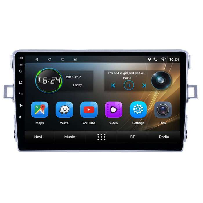 "Radio Navegador GPS Android para Toyota Verso (9"")"