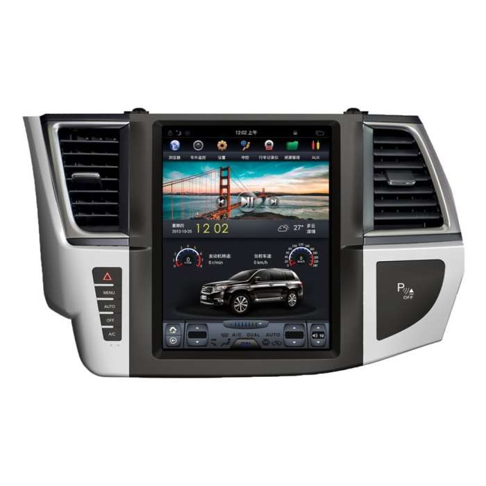 "Radio Navegador Android Tipo Tesla Toyota HighLander (12,1"")"