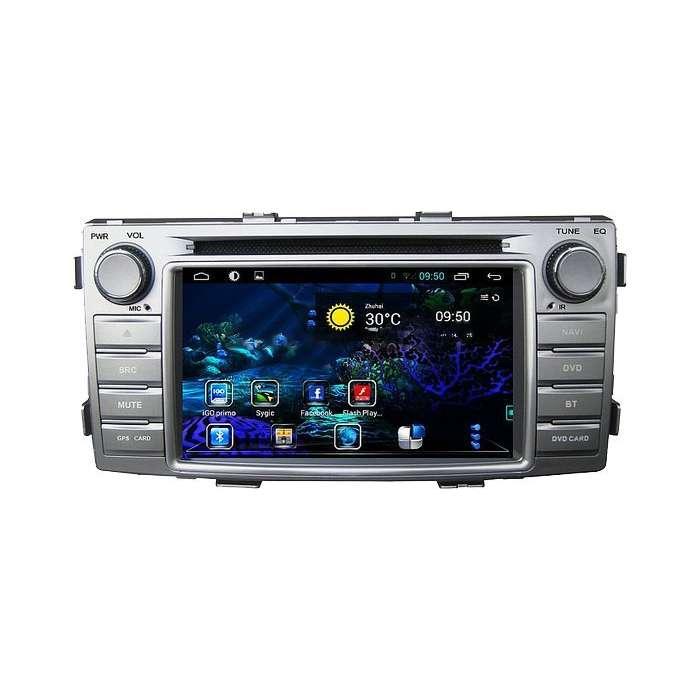 "Radio DVD Navegador GPS Android para Toyota Hilux (6,2"")"