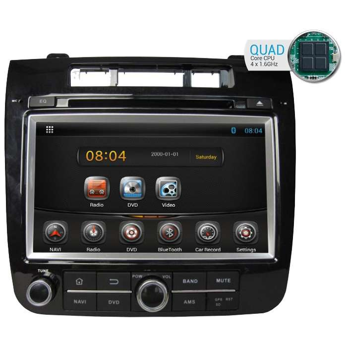 "Radio DVD Navegador Android HD Quad Core para Volkswagen Touareg (8"")"