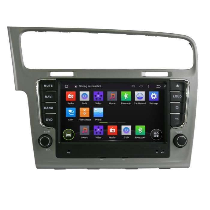 """Radio Navegador Octa Core Android Puro para Volkswagen Golf (7"""")"""