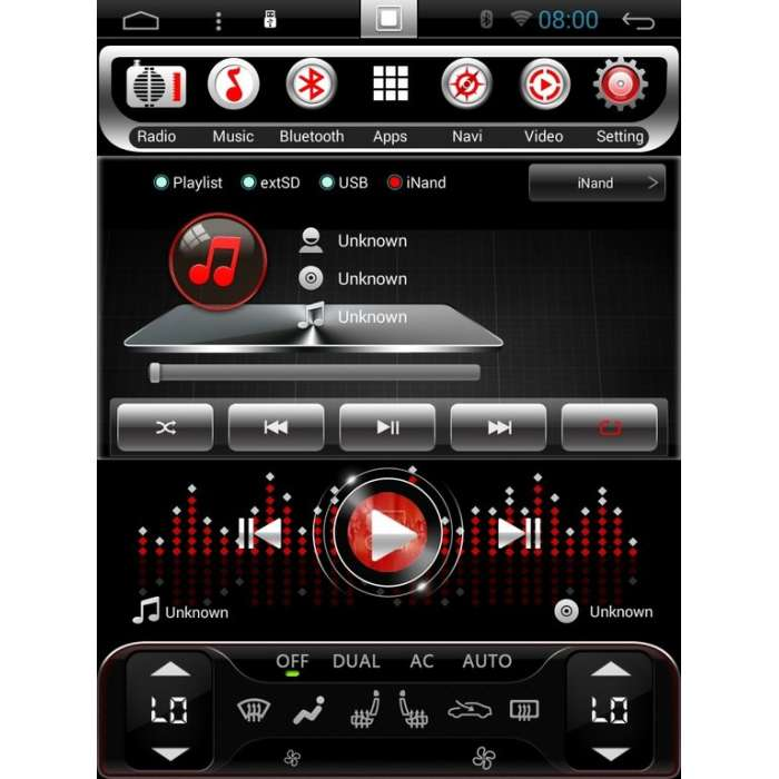 """Radio Navegador GPS Android Tipo Tesla para Mercedes Vito (12,1"""")"""