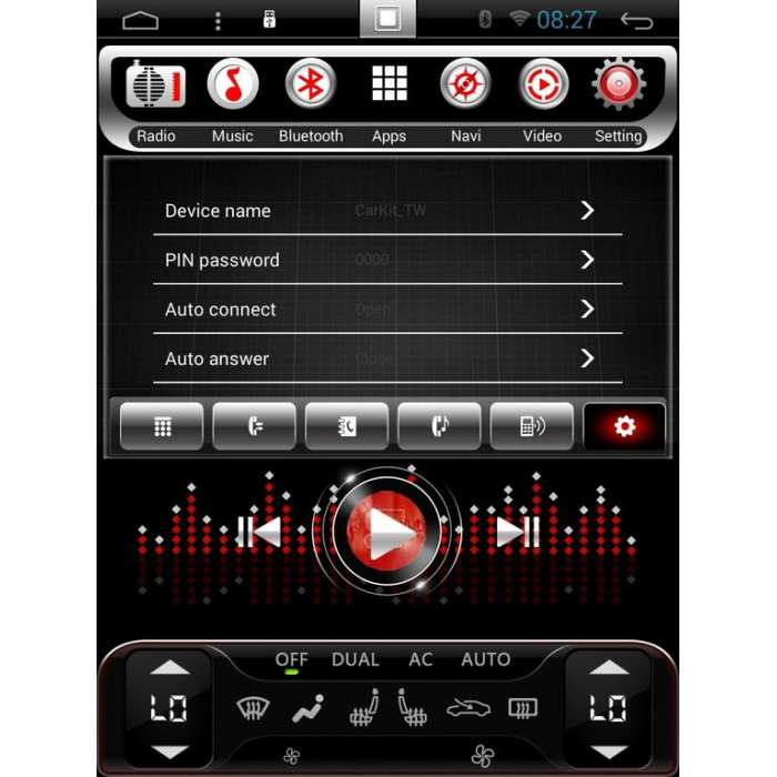 """Radio Navegador Android Tipo Tesla para Mercedes ML (12,1"""")"""