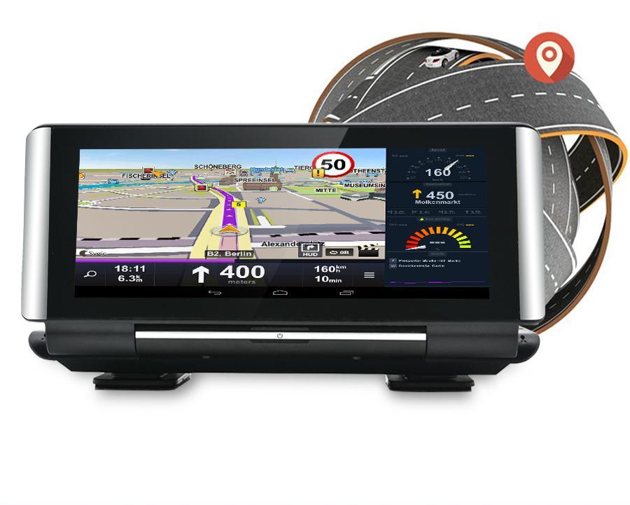 "Pantalla GPS Android Universal para Salpicadero con Cámara de Grabación (8"")"